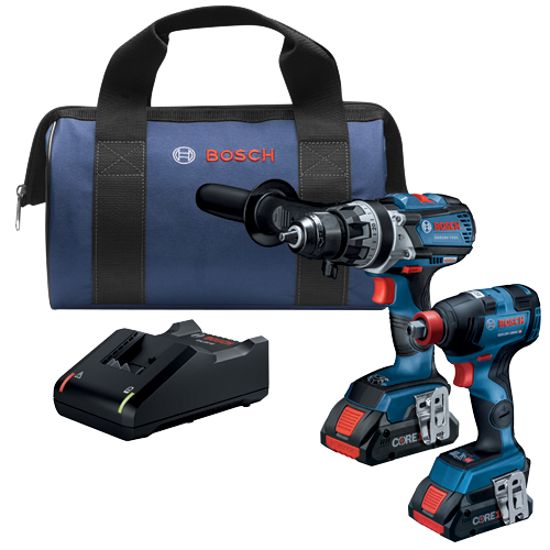 GXL18V-224B25 18V 2-Tool Combo Kit with Connected Freak 1/4 In. and 1/2 In. Two-In-One Bit/Socket Impact Driver and Brute Tough 1/2 In. Hammer Drill/Driver