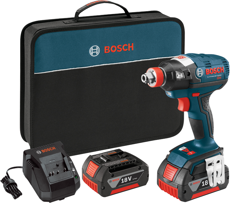 IDH182-01 18 V EC Brushless 1/4 In. and 1/2 In. Two-In-One Bit/Socket Impact Driver Kit