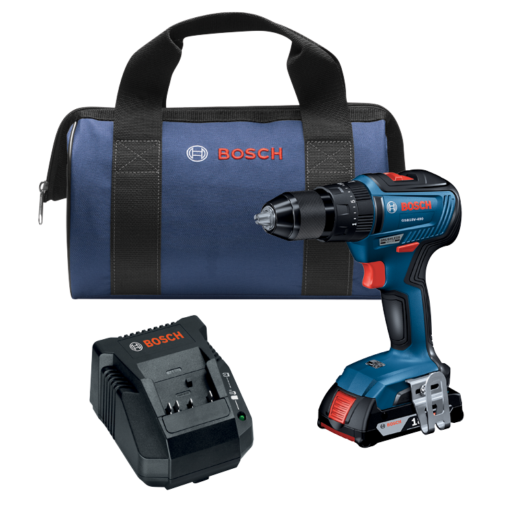 GSB18V-490B12 18V EC Brushless 1/2 In. Hammer Drill/Driver Kit with (1) 2.0 Ah SlimPack Battery