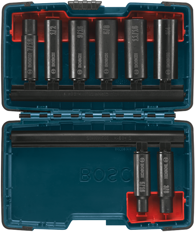 27285 8 Pc. 3/8 Deep Well Socket Set