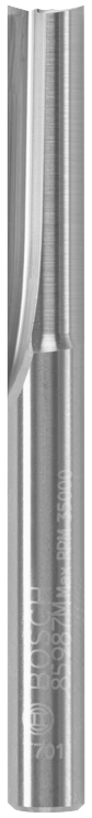 85987MC 1/4 In. x 1 In. Solid Carbide Double-Flute Straight Router Bit