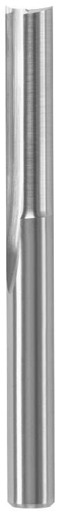 86010MC 1/4 In. x 1 In. Solid Carbide Double-Flute O-Flute Router Bit