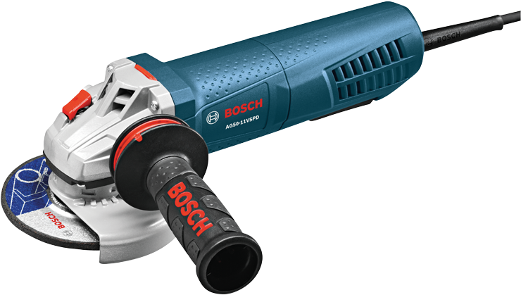 AG50-11VSPD 5 In. Variable Speed Angle Grinder with No-Lock-On Paddle Switch