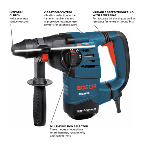 RH328VC | 1-1/8 In  SDS-plus® Rotary Hammer | Bosch Power Tools