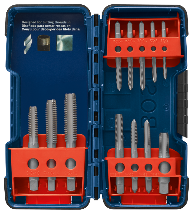 BPT12S 12 pc. High-Carbon Steel Plug Tap Set
