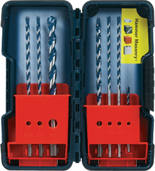 BlueGranite™ Turbo Carbide Hammer Drill Bits