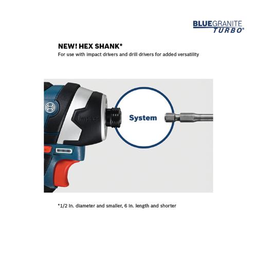 """25-Pack Bosch HCBG04B25T 3//16/"""" x 4/"""" x 6/"""" BlueGranite Turbo Carbide Drill Bit"""