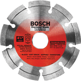 DB4565 4-1/2 In. Premium Plus Segmented Rim Diamond Blade for Soft Materials