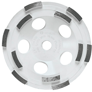 DC510H 5 In. Double Row Segmented Diamond Cup Wheel