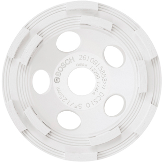 DC510 5 In. Double Row Segmented Diamond Cup Wheel for Concrete