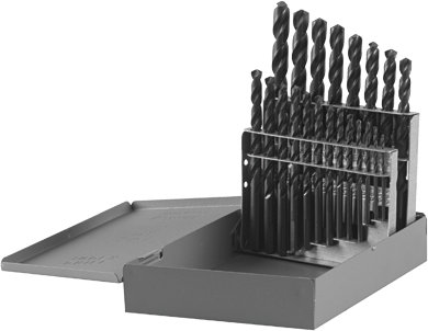 BL0021 21 pc. Metal Index Black Oxide Drill Bit Set