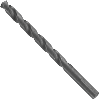 BL4150 6 pc. 23/64 In. x 4-7/8 In. Fractional Jobber Black Oxide Drill Bits