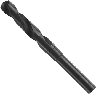 BL2164 37/64 In. x 6 In. Fractional Reduced Shank Black Oxide Drill Bit