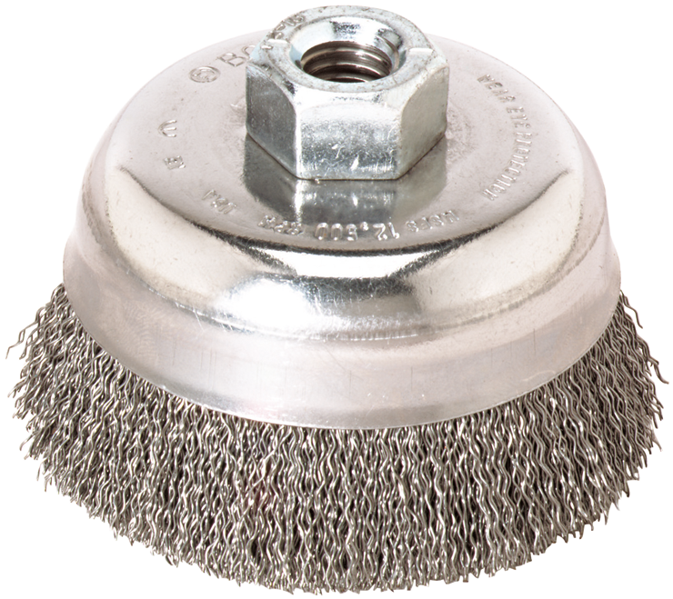 WB509 3 In. Wheel Dia. 5/8 In.-11 Arbor Carbon Steel Knotted Wire Single Row Cup Brush