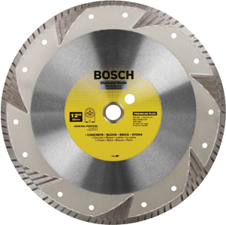 DB1263 12 In. Premium Plus Turbo Rim Diamond Blade for Smooth Cuts