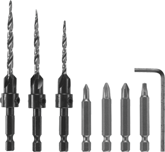 CC2460 7 pc. Drive and Drill Bit Set
