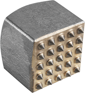 HS1969 2 In. x 2 In. Square 25 Tooth Carbide Bushing Head Hammer Steel