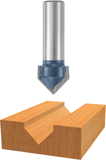84303M 90° x 5/8 In. Carbide Tipped V-Groove Bit
