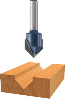 85219M 90° x 9/16 In. Carbide Tipped V-Groove Bit