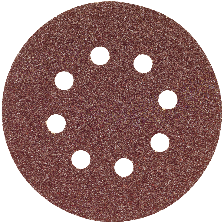 SR5R040 5 pc. 40 Grit 5 In. 8 Hole Hook-And-Loop Sanding Discs
