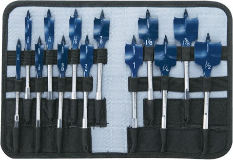 DSB5013P 13 pc. Daredevil™ Spade Bit Set in Pouch