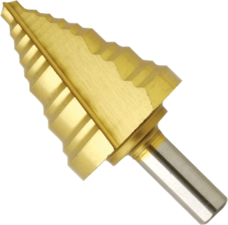 SDT10 1/4 In. to 1-3/8 In. Titanium-Coated Step Drill Bit