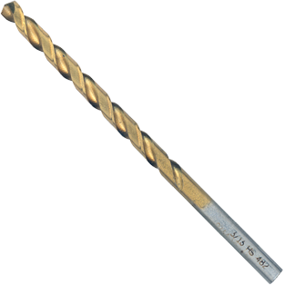 TI2139 3/16 In. x 3-1/2 In. Titanium-Coated Drill Bit