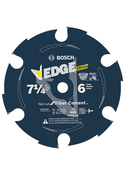 CB706FCB5 5 pc. 7-1/4 In. 6 Tooth Edge Carbide-Tipped Circular Saw Blades