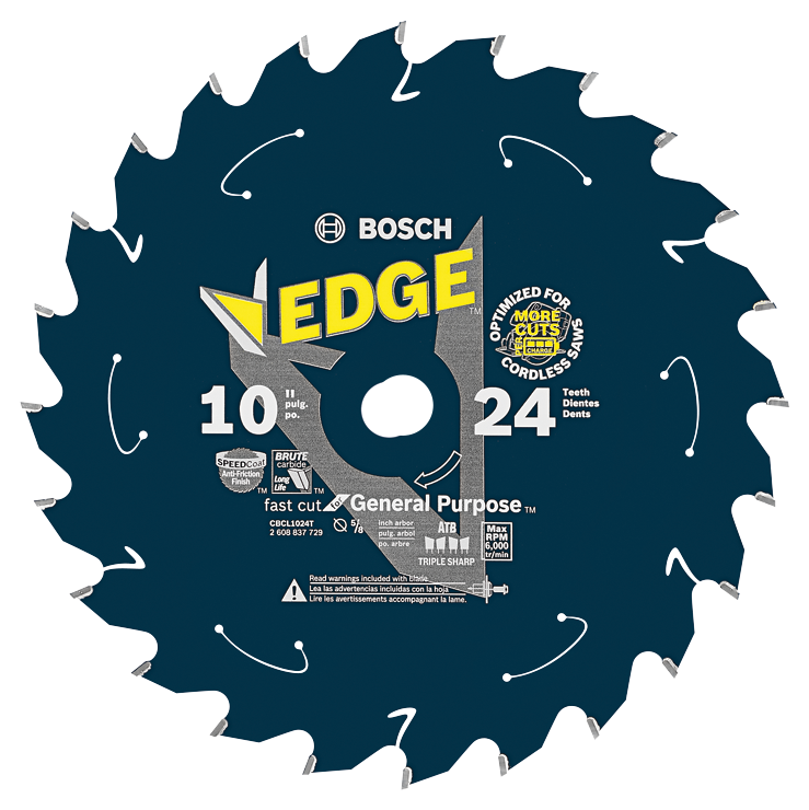 CBCL1024T 10 In. 24 Tooth Edge Cordless Circular Saw Blade for General Purpose