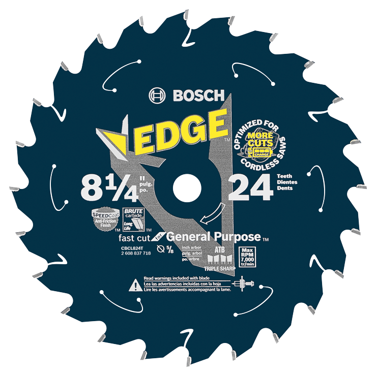 CBCL824T 8-1/4 In. 24 Tooth Edge Cordless Circular Saw Blade for General Purpose