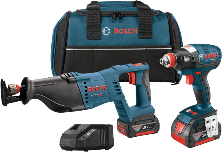 CLPK204-181 18V 2-Tool Combo Kit with 1/4 In. and 1/2 In. Two-In-One Bit/Socket Impact Driver and 1-1/8 In. Reciprocating Saw