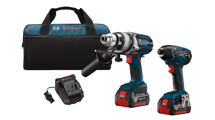 CLPK222-181 18V 2-Tool Combo Kit with Brute Tough 1/2 In. Hammer Drill/Driver and 1/4 In. Hex Impact Driver