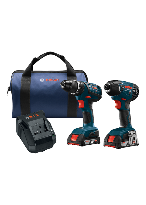 CLPK232A-181 18V 2-Tool Combo Kit with Compact Tough 1/2 In. Drill/Driver, 1/4 In. Hex Impact Driver and (2) 2.0 Ah SlimPack Batteries