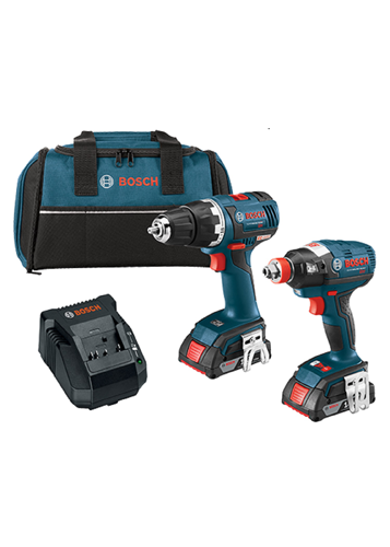 CLPK233-181 18 V 2-Tool Combo Kit with EC Brushless 1/4 In. and 1/2 In. Socket-Ready Impact Driver and EC Brushless Compact Tough™ 1/2 In. Drill/Driver