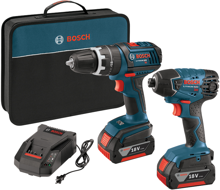 CLPK237-181 18 V 2-Tool Compact Tough Hammer Drill Driver and Hex Impact Driver Combo Kit