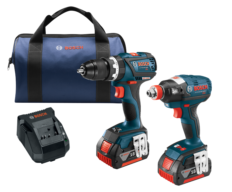 CLPK251-181 18V 2-Tool Combo Kit with 1/4 In. and 1/2 In. Two-In-One Bit/Socket Impact Driver, Compact Tough 1/2 In. Hammer Drill/Driver and (2) 4.0 Ah FatPack Batteries
