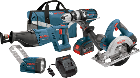 CLPK402-181 18V 4-Tool Combo Kit with Brute Tough™ 1/2 In. Hammer Drill/Driver, 1-1/8 In. Reciprocating Saw, 6-1/2 In. Circular Saw and Flashlight