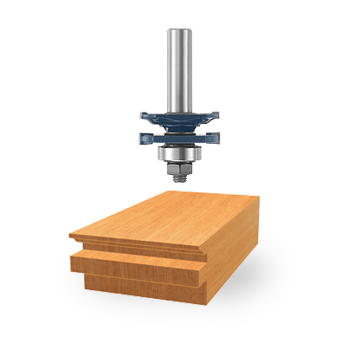 Carbide-Tipped Ogee Stile and Rail Bits