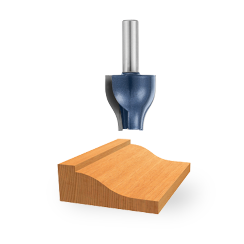 Carbide-Tipped Ogee Vertical Raised Panel Bit