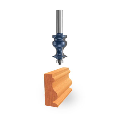 Carbide-Tipped Ogee and Bead Bit