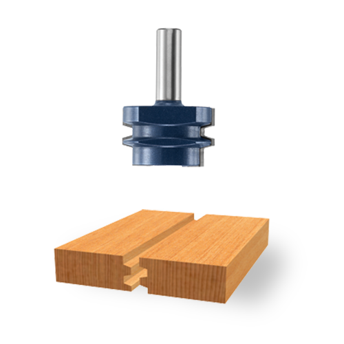 Carbide-Tipped Reversible Glue-Joint Bit