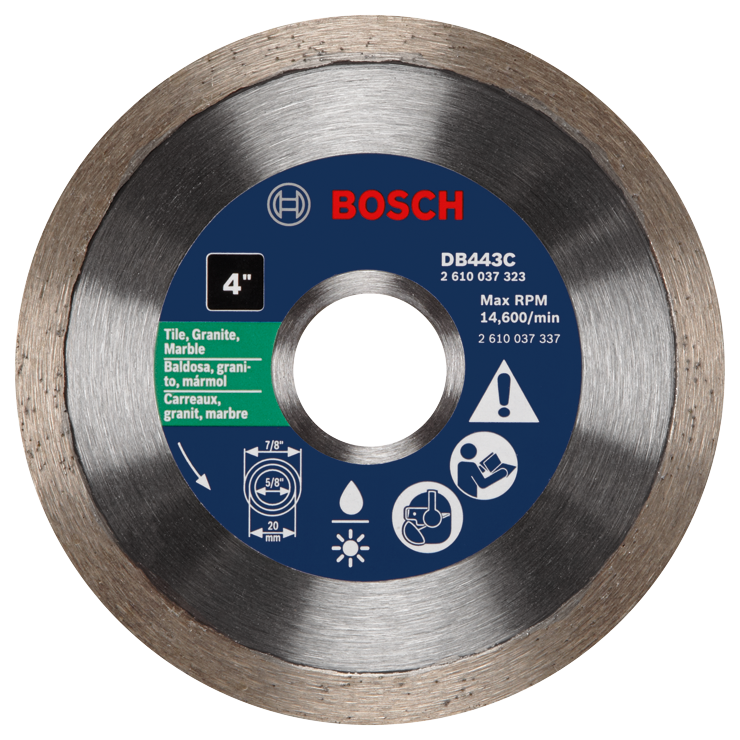 DB443C 4 In. Premium Continuous Rim Diamond Blade for Clean Cuts