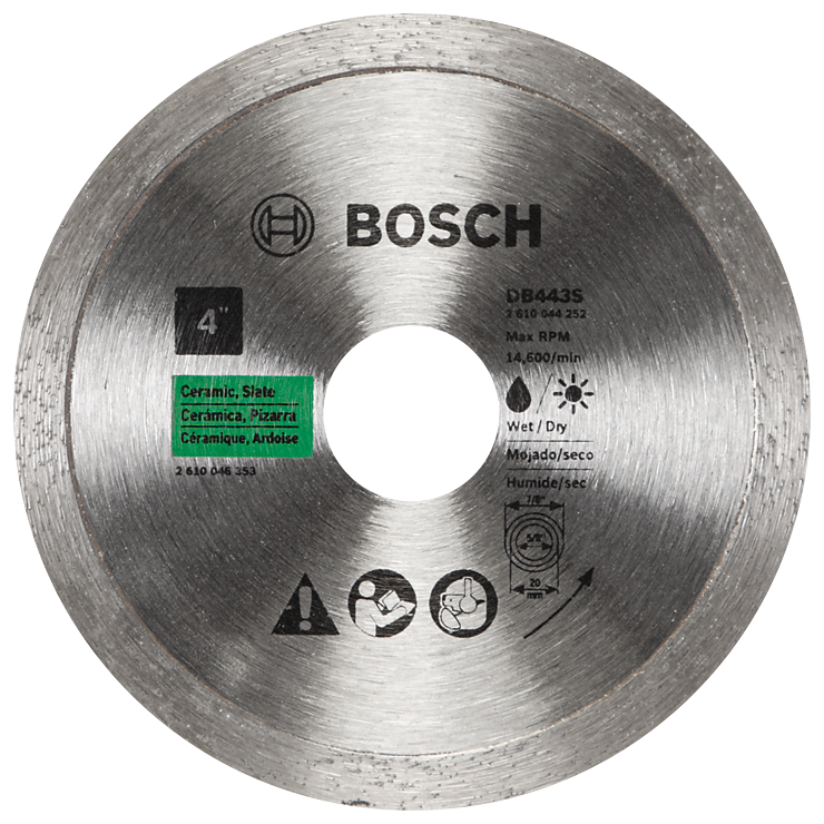 DB443S 4 In. Standard Continuous Rim Diamond Blade for Clean Cuts