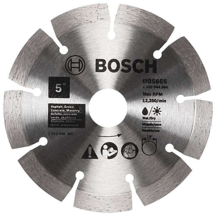 DB565S 5 In. Standard Segmented Rim Diamond Blade for Soft Materials
