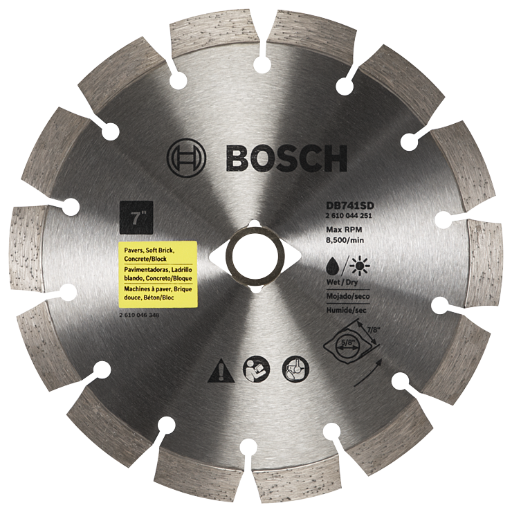 DB741SD 7 In. Standard Segmented Rim Diamond Blade with DKO for Universal Rough Cuts