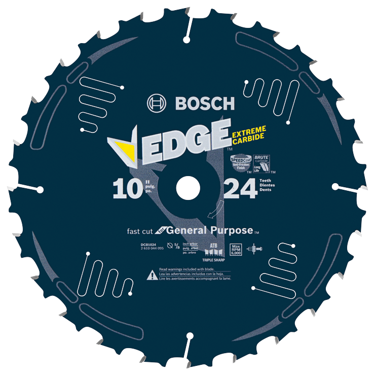 DCB1024 10 In. 24 Tooth Edge Circular Saw Blade for Fast Cuts