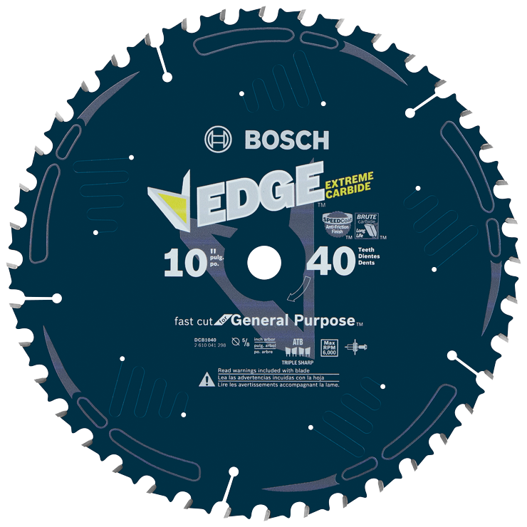 DCB1040 10 In. 40 Tooth Edge Circular Saw Blade for General Purpose