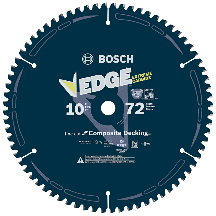 DCB1072CD 10 In. 72 Tooth Edge Circular Saw Blade for Composite Decking