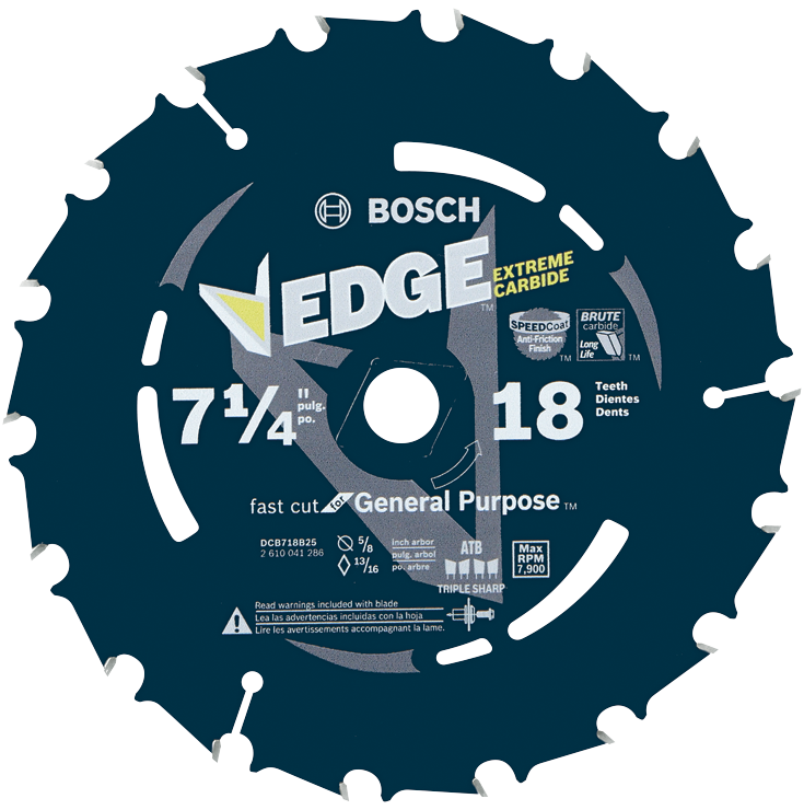 DCB718B25 25 pc. 7-1/4 In. 18 Tooth Edge Portable Saw Blades Fast Cut (Bulk)