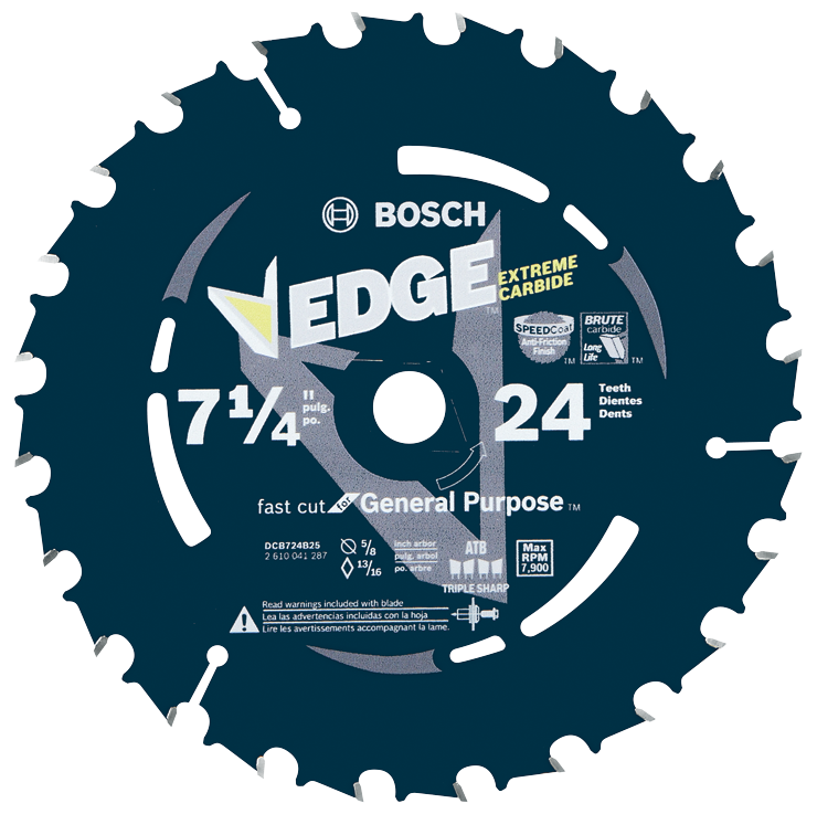 DCB724B3 3 pc. 7-1/4 In. 24 Tooth Edge Circular Saw Blades for Framing (Bulk)